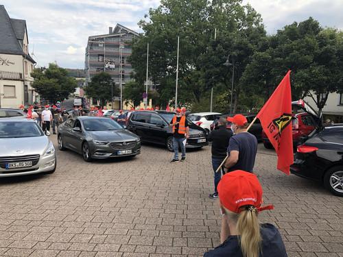 Autokorso-Demo bei Schaeffler in Morbach